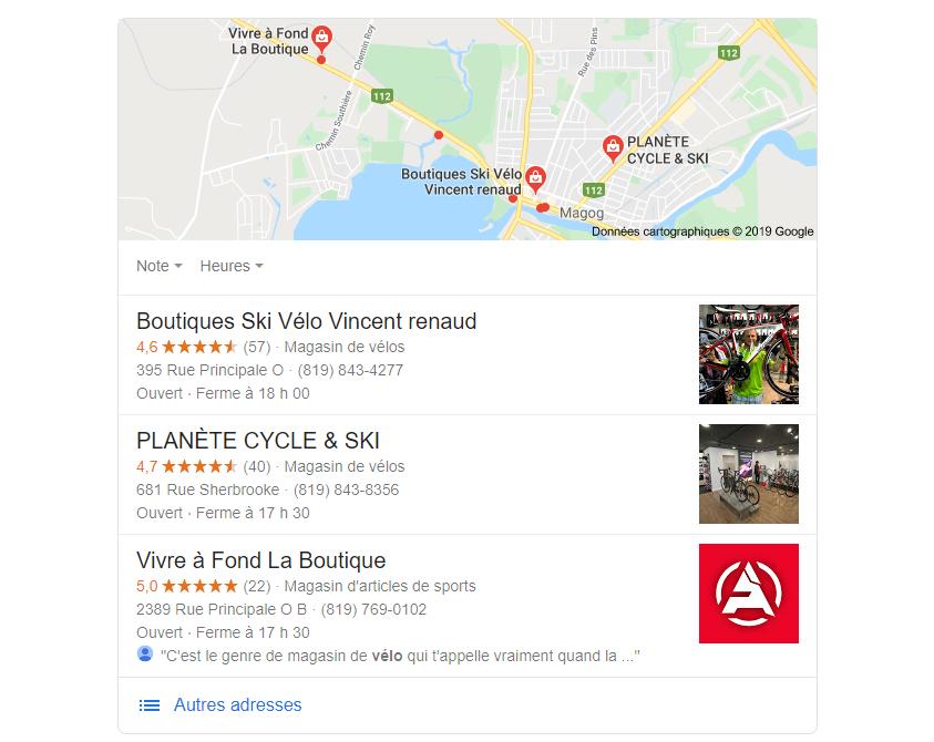 google référencement local